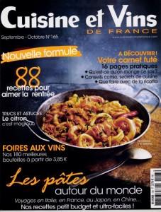 Cusine et Vins de France-sept 15