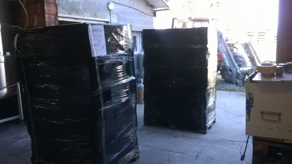 Export chine-départ palettes